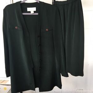 Jones New York Dress, 2-piece, Size 6, Green